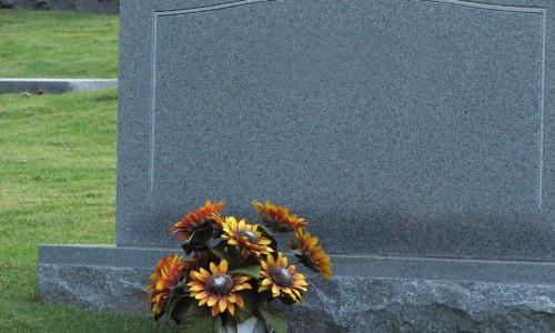 575-a-blank-tombstone-with-flowers-pv